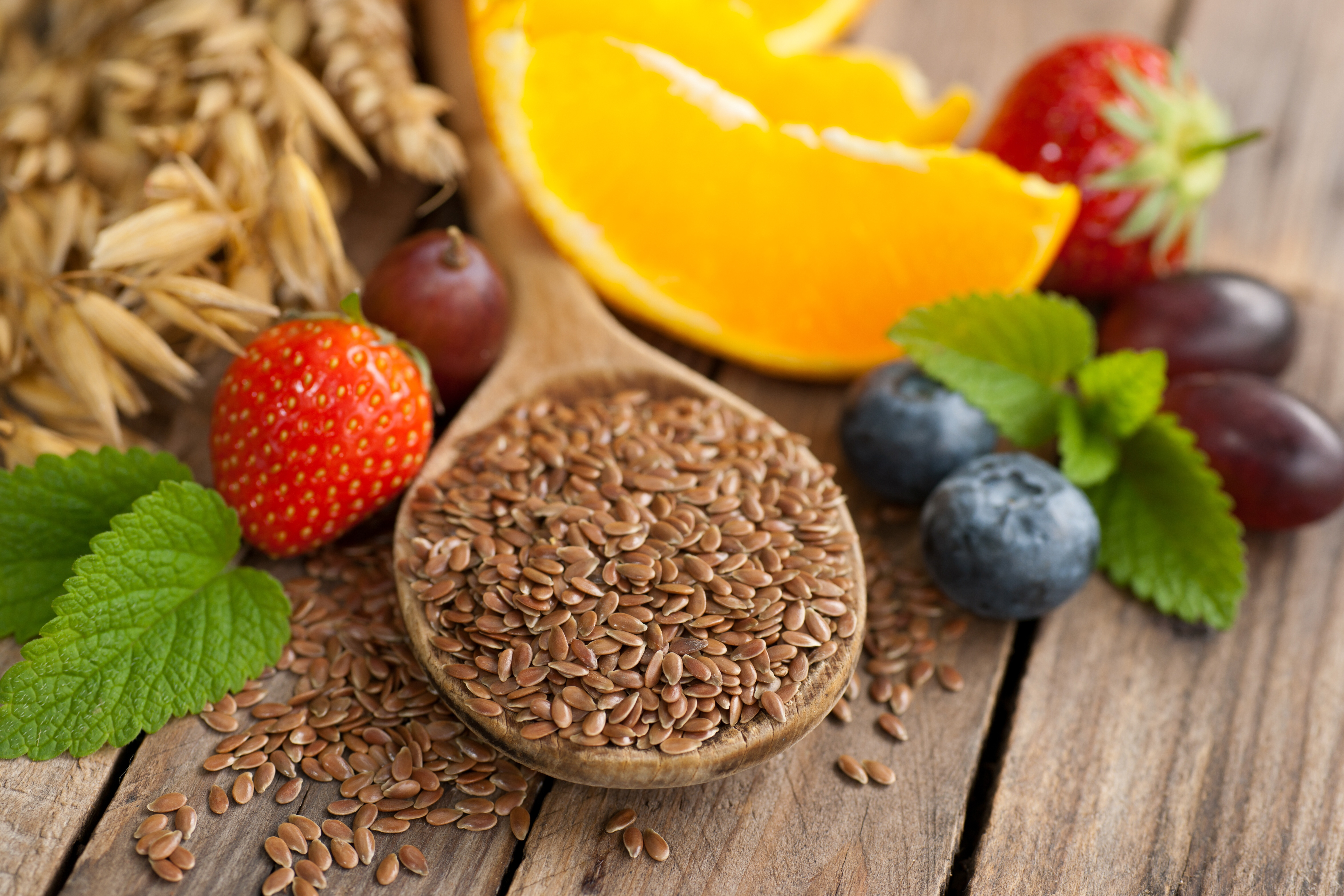 Flaxseeds Contain Antioxidants